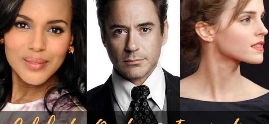Robert Downey Jr, Kerry Washington, Emma Watson