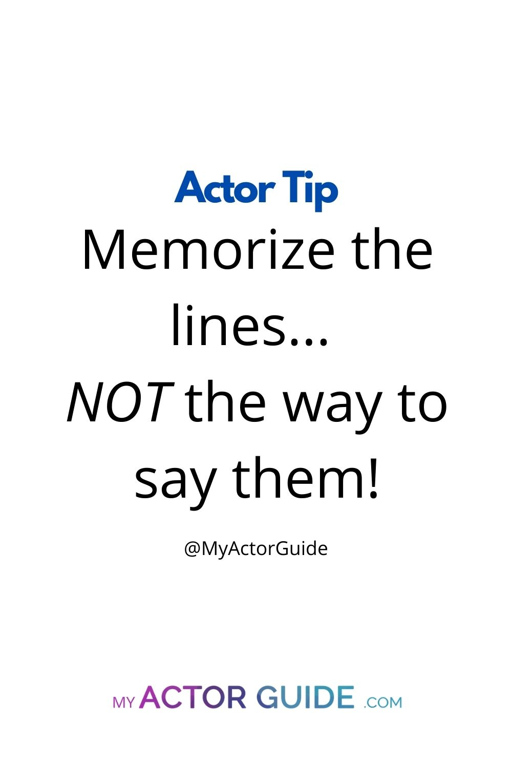 How to memorize lines as an actor. Learn how to memorize lines fast!