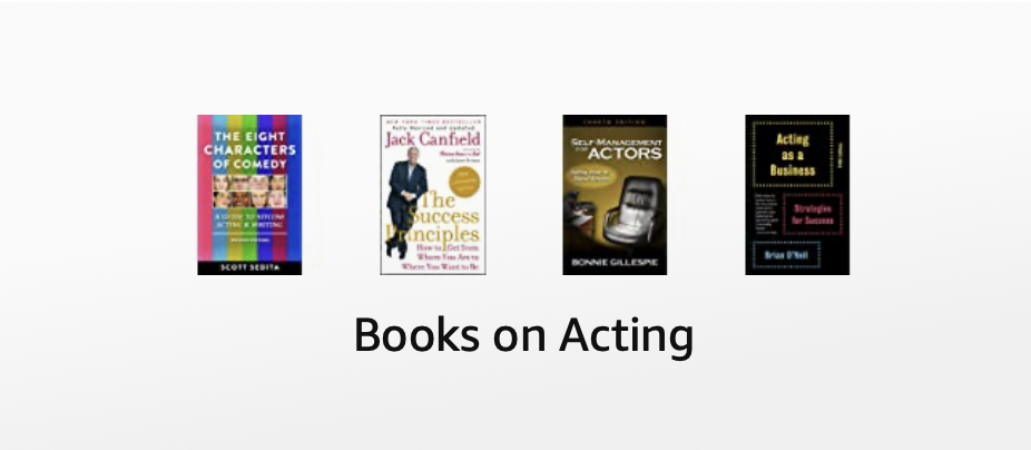 Find the best books on acting to  book more auditions, become a better actor and up level your career!