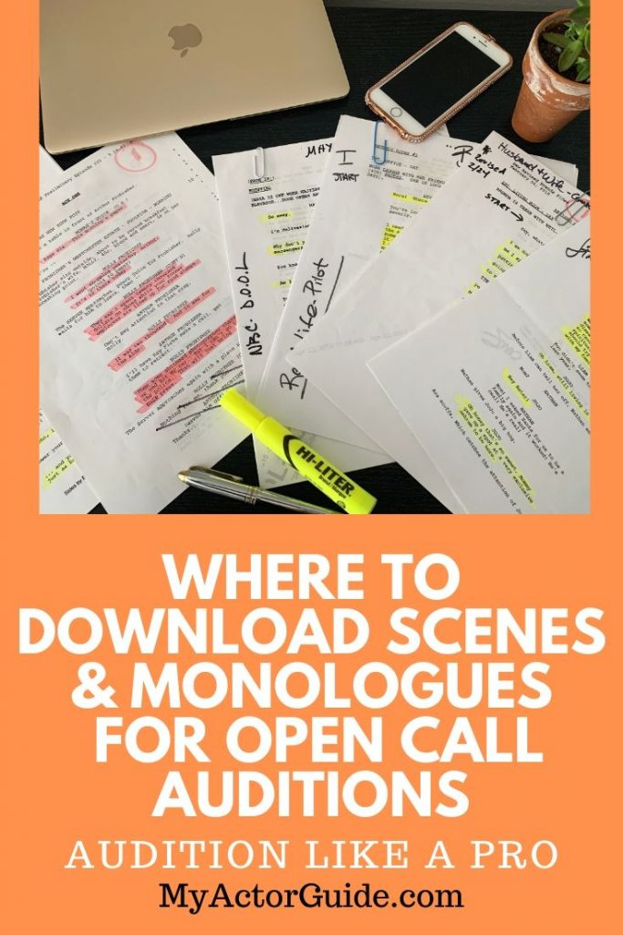 Need to find scripts, scenes and monologues for acting auditions? Find out where you can download scripts for free!