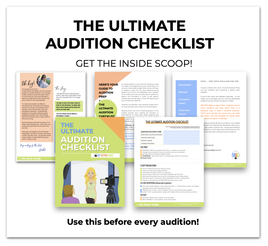 The Ultimate Audition Checklist for Actors