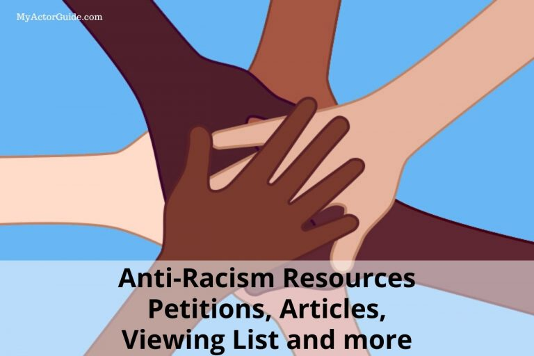 Anti-racism resources for Black Lives Matter. Find resources for diversity, inclusion, black lives matter reading list, viewing list and more. #blm #antiracism #acting