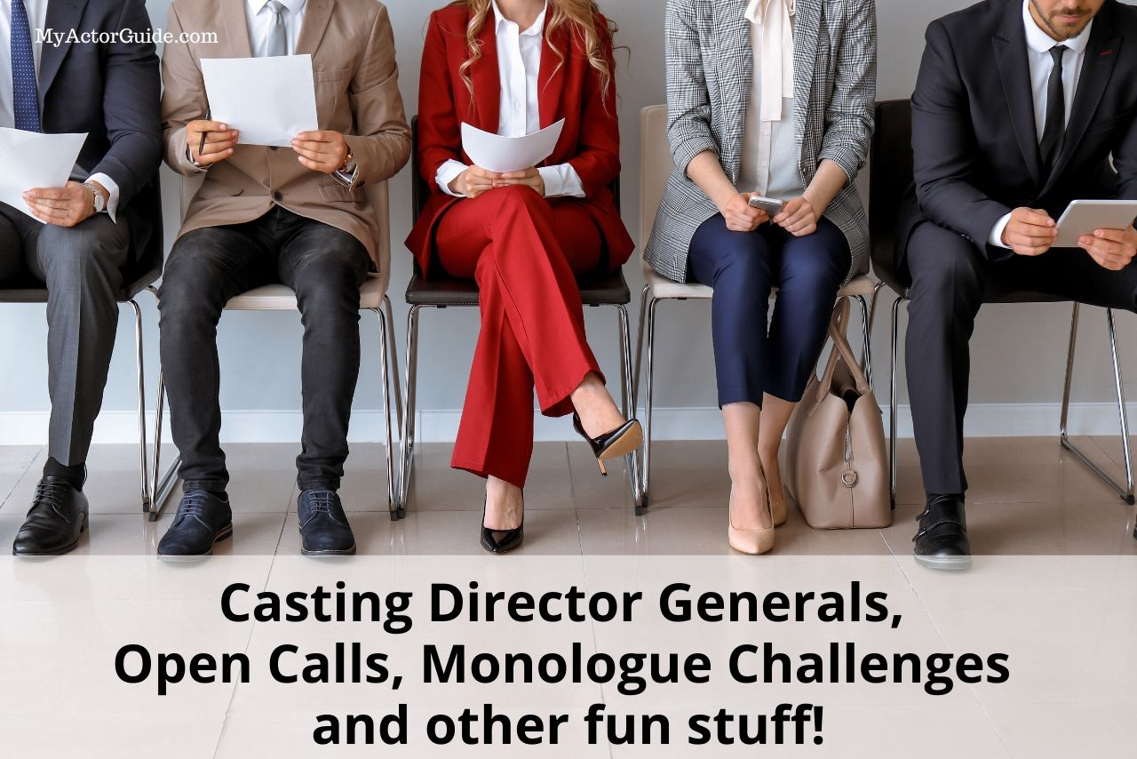 Free listing of LA and NYC Casting Director open call auditions, general meetings and monologue challenges. Find casting director classes to become an actor and boost your acting career. #acting #castingdirector #becomeanactor #actorslife