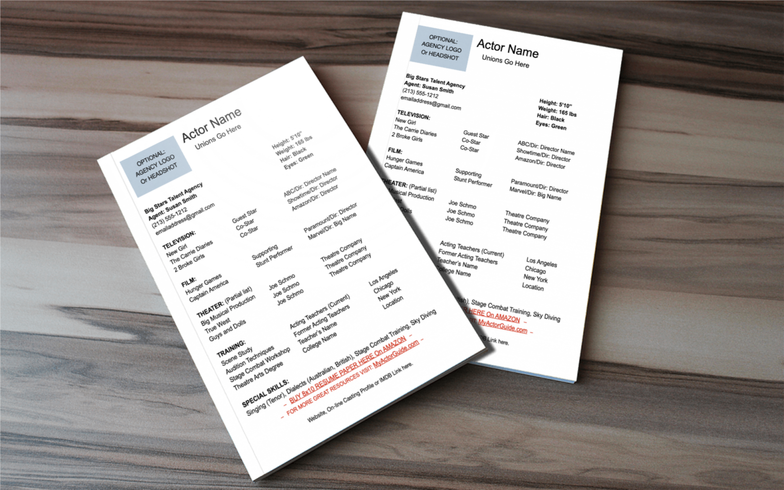 What should you put on your resume as a new actor? Find out how to format an actor's resume.