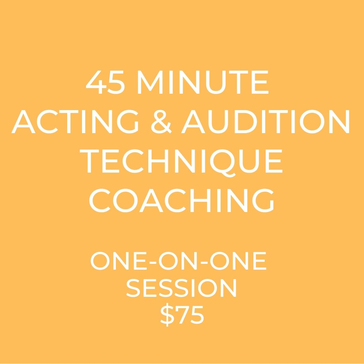 Acting Coaching and Audition Coaching. Private one-on-one coaching to learn how to act and become a professional actor.