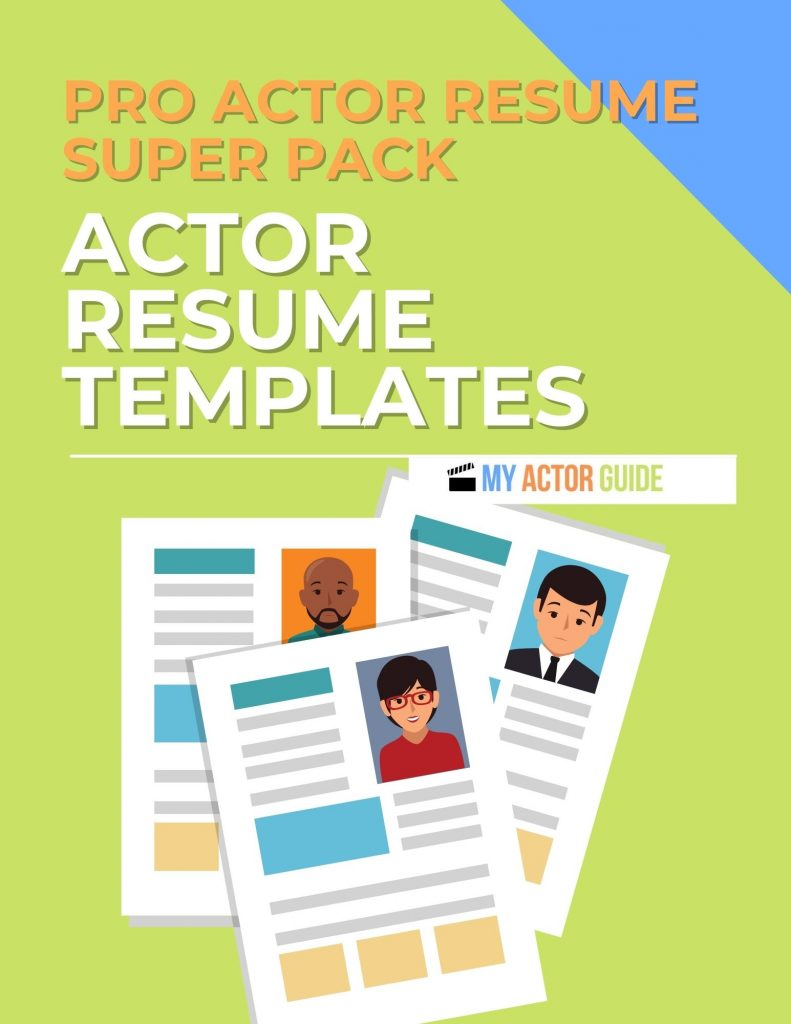 Professional Actors Resume Templates. Download your resume for professional  actors template now!
