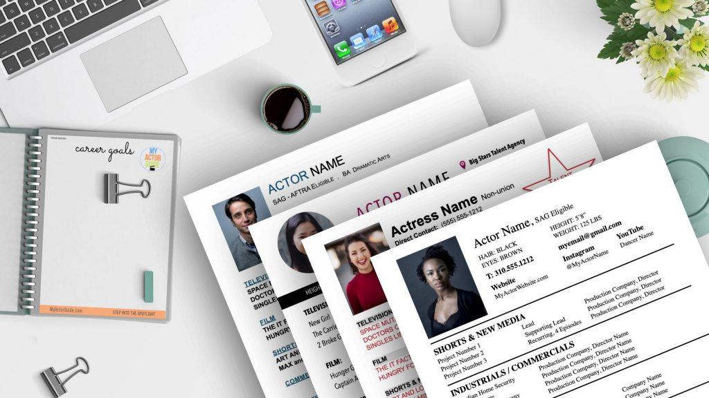 Professional Actors Resume Templates. Download your resume for professional actors template now! Get resume templates for actors at MyActorGuide.com