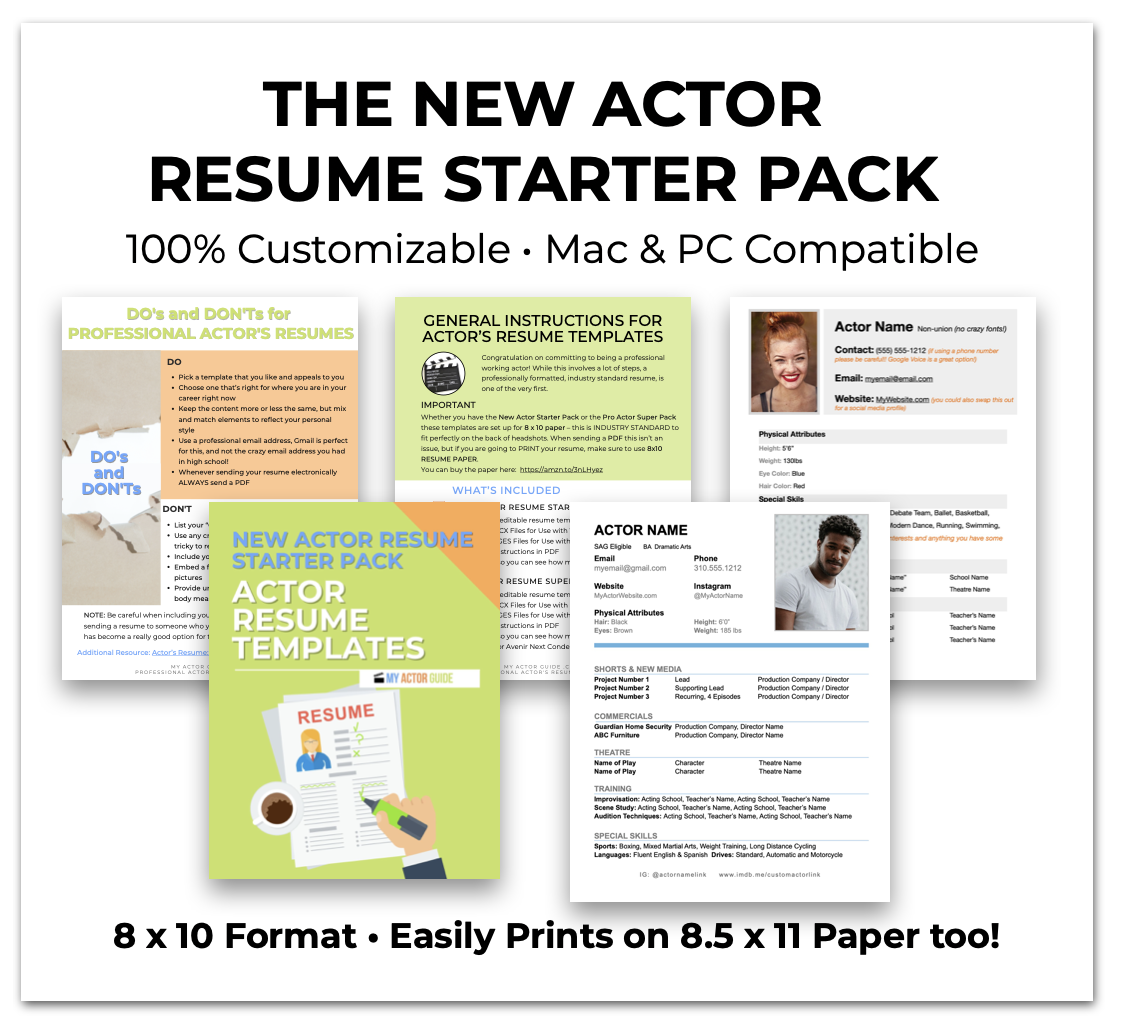 Actors Resume Templates. Download your resume for actors template now!