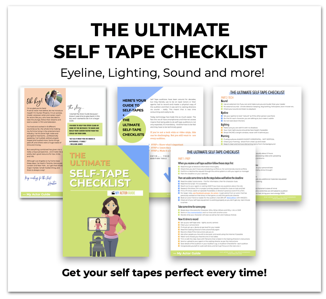 Actor Self Tape Auditions. Learn how to self-tape your audition.