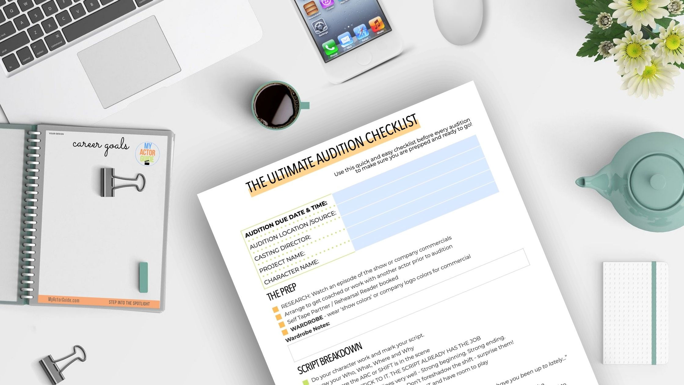 The Ultimate Audition Checklist for Actors. Learn how to audition and how to become an actor at MyActorGuide.com